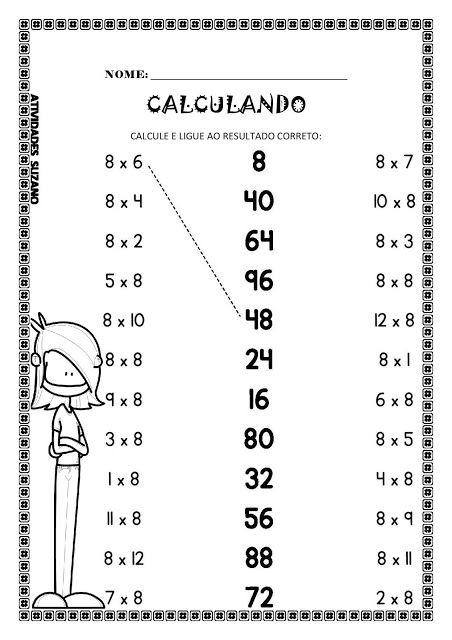 Calculando 4 operações - Atividades Adriana