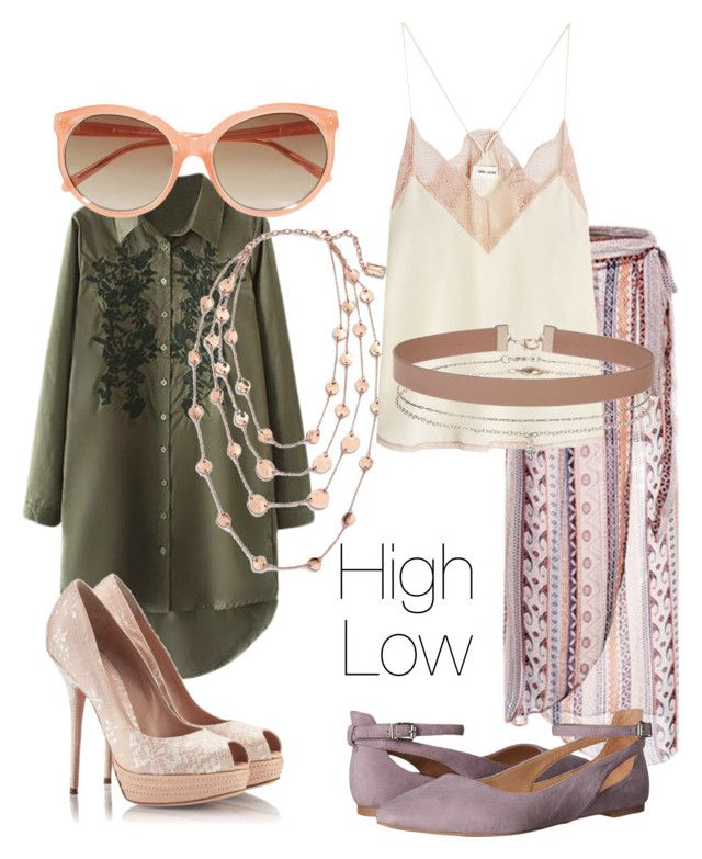 """""""High Low."""" by laurarose-price ❤ liked on Polyvore featuring Sebastian Professional, Karine Sultan, Linda Farrow, Zadig & Voltaire, Miss Selfridge and Franco Sarto"""
