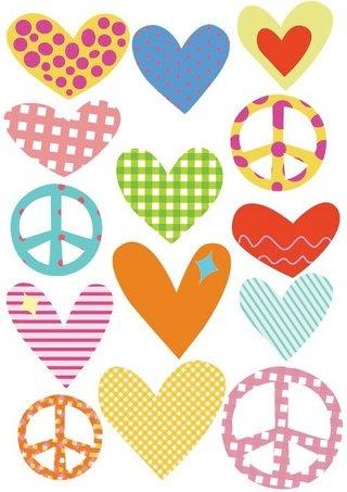 corazones y paz