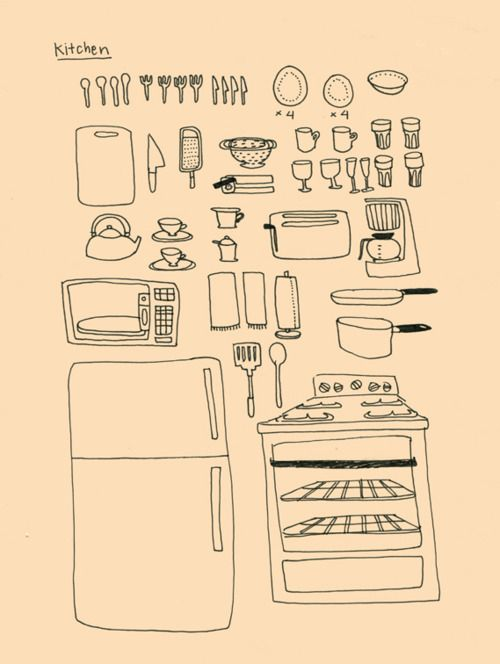 Kitchen Tools Drawings 42 best illustrations about food images on pinterest | food