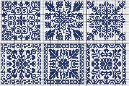 Cross-stitch Biscornu patterns... Square 60 | gancedo.eu