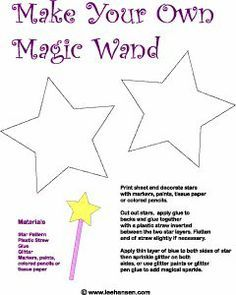 fairy tale crafts for preschoolers | magic wand printable craft | Preschool Fairy Tales