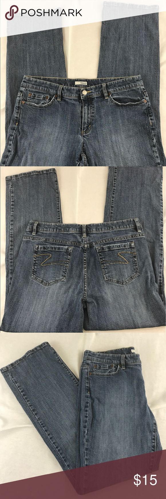 "Women's Plus Size Jeans, 14 Gently used TINT brand jeans. Plus Size, 14. Medium wash. INSEAM: 30.5"" TINT Jeans"