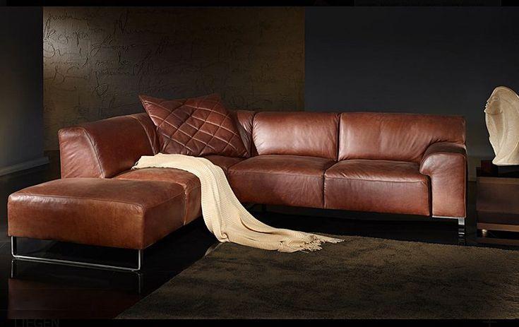 die besten 20 sofa leder braun ideen auf pinterest couch leder sofa braun und ledercouch. Black Bedroom Furniture Sets. Home Design Ideas