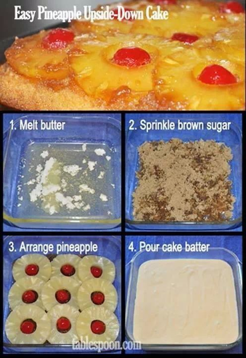Pineapple up side down cake (cooking cake pineapple upside)