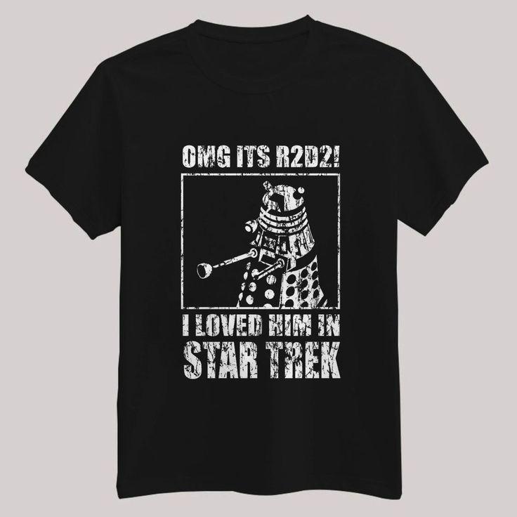 OGM ITS R2D2 I LOVED HIM IN STAR TREK T Shirt WARS BLACK Unbranded