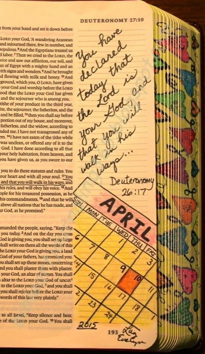 Easy Bible Art Journaling Journey: Deuteronomy 26:17 (April 10th)