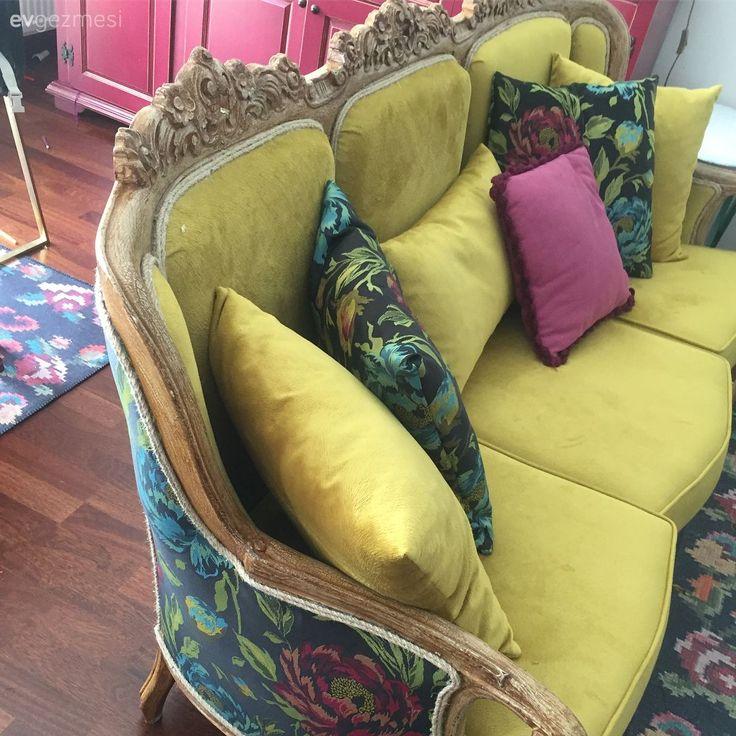Yaş almış bir koltuğa yeni bir hayat. Burcu hanımın harika dönüşümü..