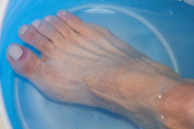 Toes can become infected for many reasons--fungal infections, toenail infections, or even an infection from cutting a nail too short and opening the skin. Because your toes are inside socks and shoes, the best bet for curing infections is to soak the toe at the end of the day.