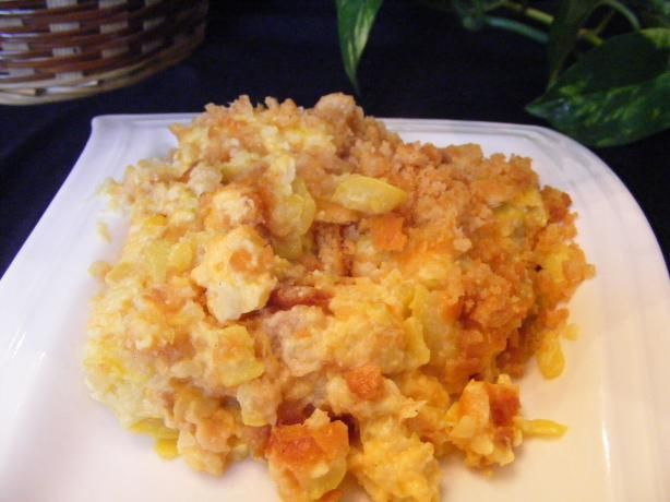 Cheesy Squash Casserole With Ritz