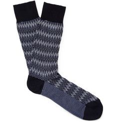 Missoni - Zigzag-Knit Cotton-Blend Socks|MR PORTER
