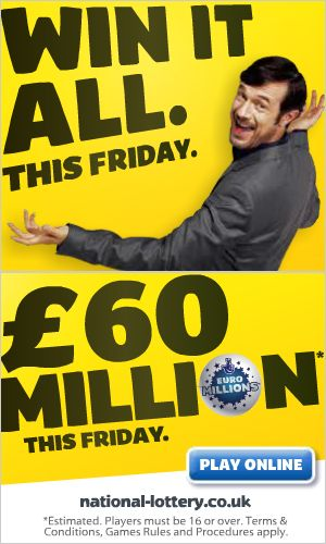 "This animated ad by UK's National Lottery proves that sometimes, you can get away with faking it. Though the ad claims that the jackpot is worth £60 million ""this Friday,"" our crawlers detected that it has been running for over a year and a half. Hey - don't fix what ain't broke, right?"