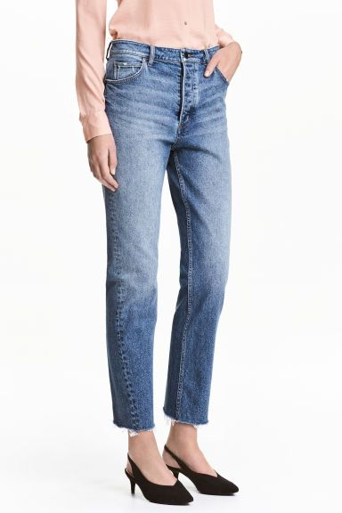 Straight Regular Jeans - Denim blue - Ladies | H&M GB
