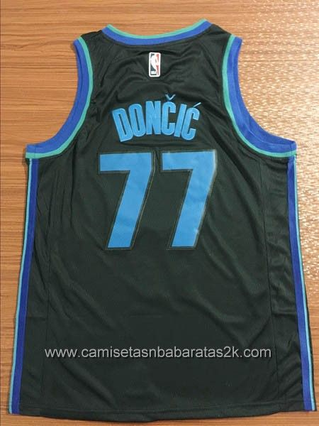 692123a04fe Camisetas nba baratas Noir #77 Luka Doncic Dallas Mavericks City Edition  2019