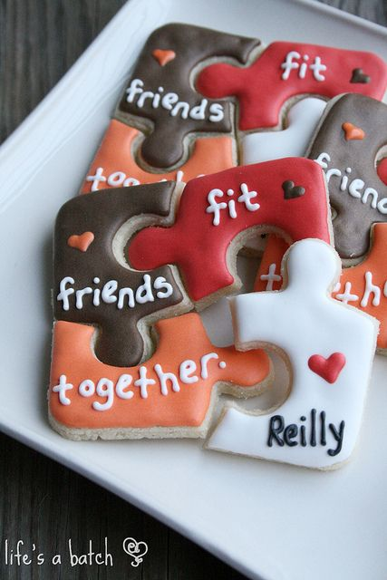 Valentine Puzzle Cookies