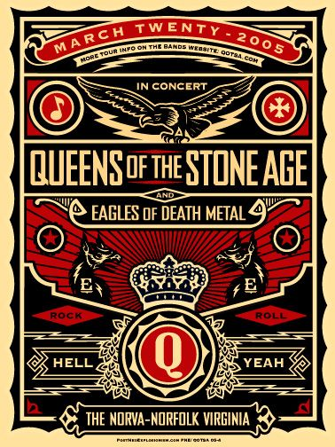 Queens Of The Stone Age & Eagles of Death Metal (design by Shepard Fairey)