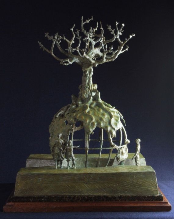Bronze Sculpture Global Tree of Life by Lincoln