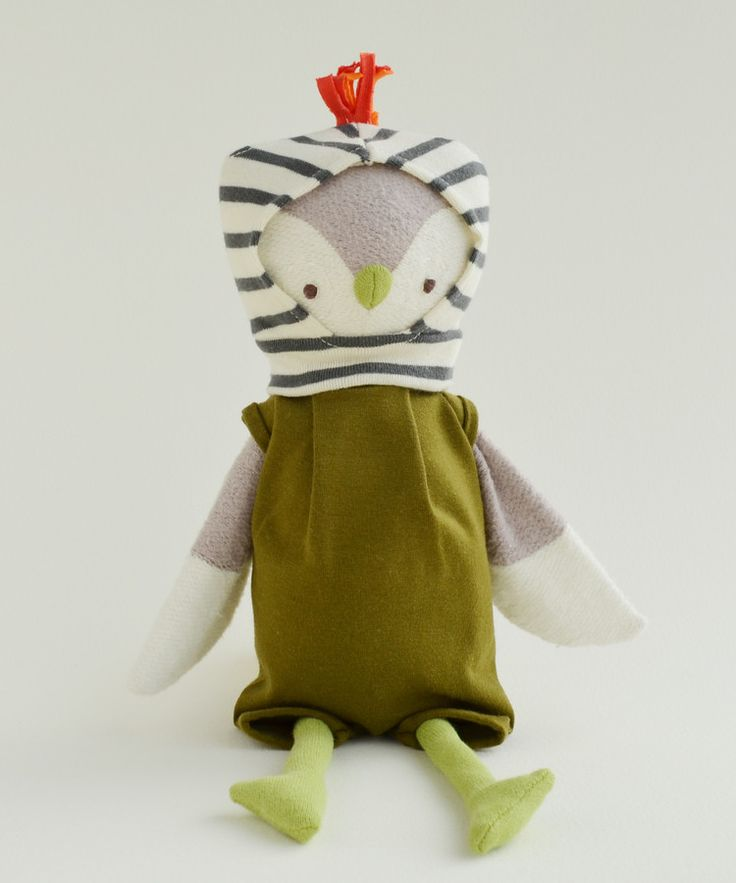 Hazel Vilage | Jeremy Owl in Olive Romper and Balaclava