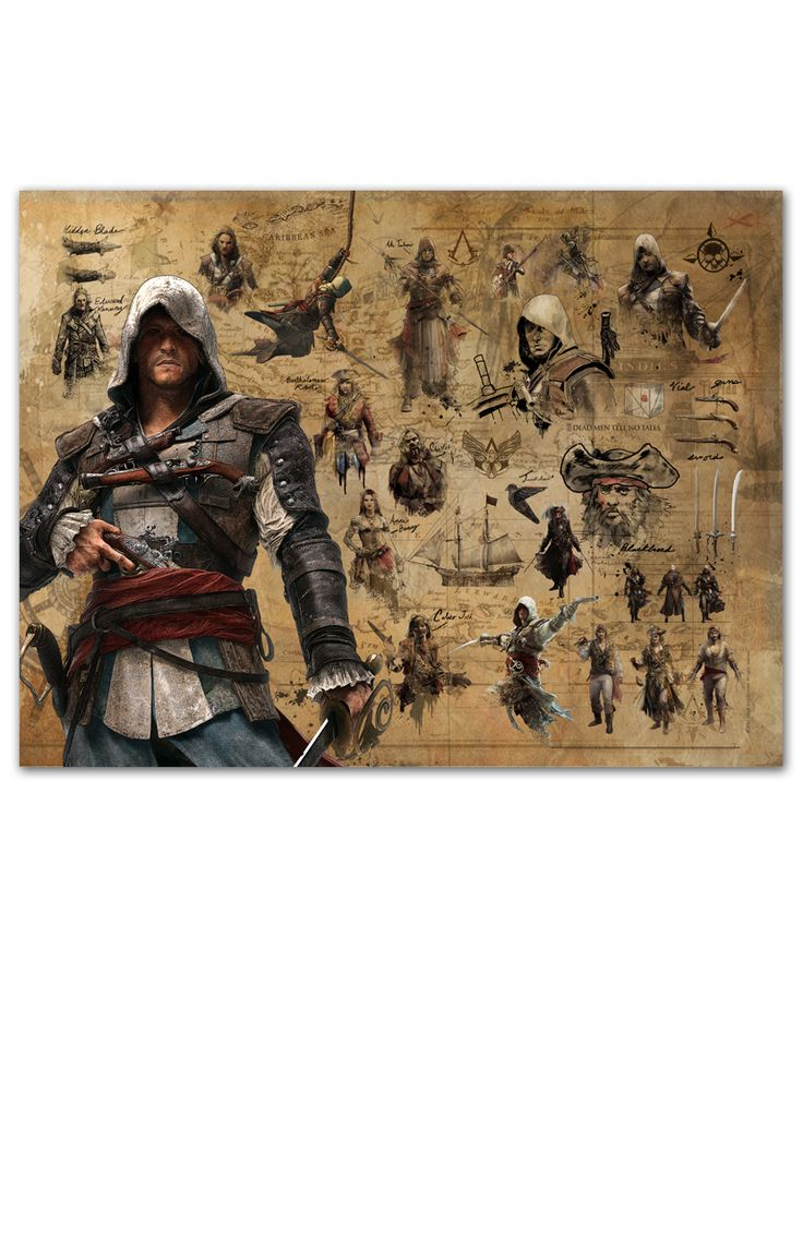 UbiWorkshop Store - Assassin's Creed Black Flag - Edward Kenway Collector Poster, US$9.99 (http://store.ubiworkshop.com/assassins-creed/posters/edward-kenway-collector-poster/)