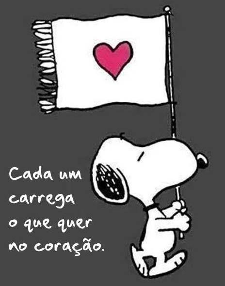 Cada um carrega o que quer no coração. @artfrasesvida