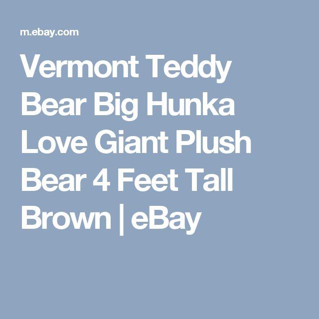 Vermont Teddy Bear Big Hunka Love Giant Plush Bear 4 Feet Tall Brown  | eBay