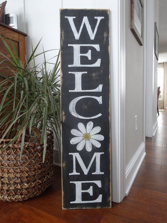 Welcome Sign Welcome Wood Sign Welcome Front Door Sign Etsy In 2020 Welcome Wood Sign Welcome Signs Front Door Wooden Welcome Signs