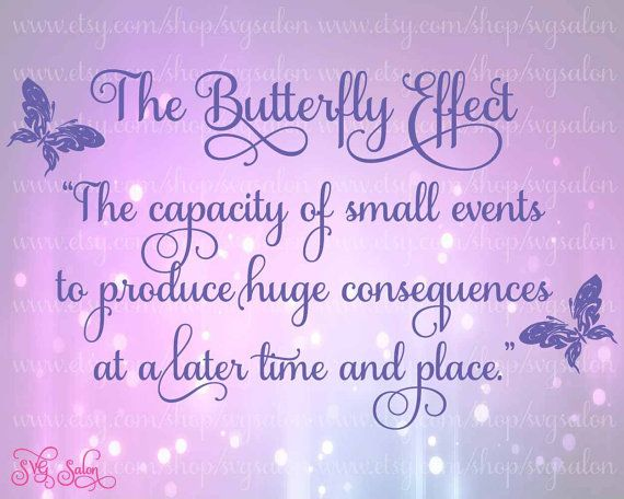 Butterfly Effect Quote Digital Cutting File in Svg Dxf by SVGSalon