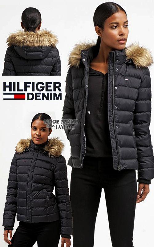 Doudoune noire femme Hilfiger Denim