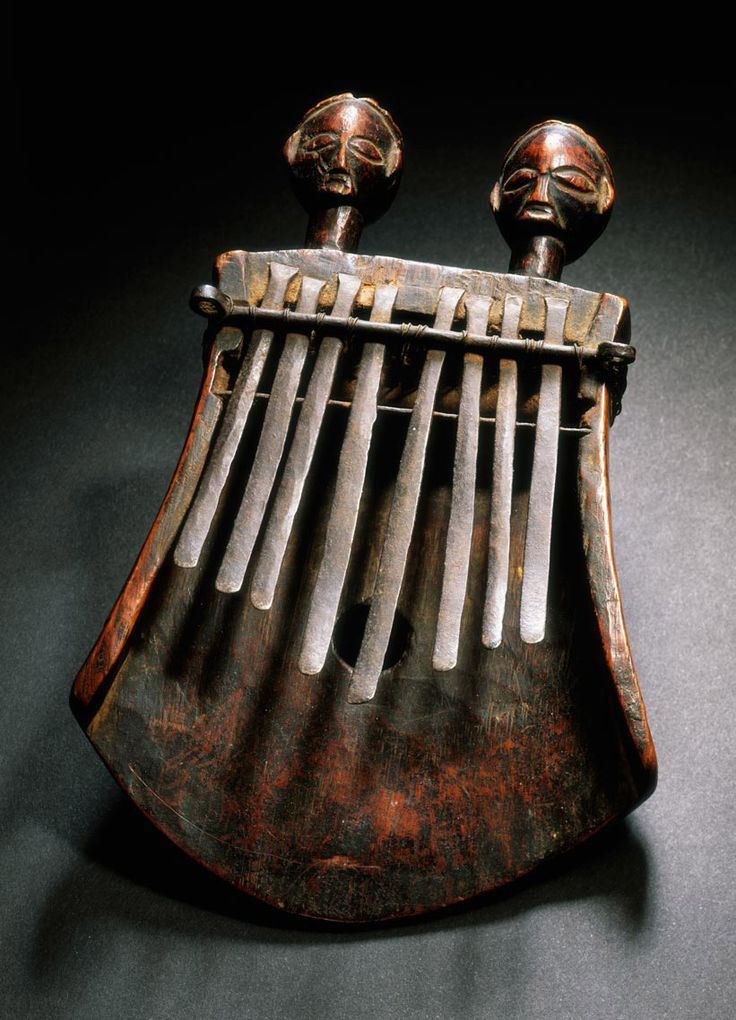 """Africa Lamellophone, or """"thumb piano"""" (kasanji) from the"""