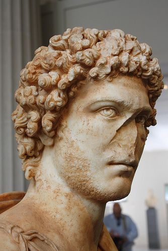 A Superb and Important Roman Marble Portrait Bust of a Young Man with an Elaborate Coiffure que guapo,,,,