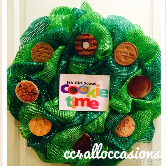 Girl Scout Cookie Wreath by CC4AllOccasions on Etsy