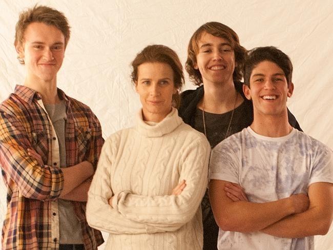 Nowhere Boys cast: L-R Matt Testro, Rachel Griffiths, Dougie Baldwin and Rahart Adams.