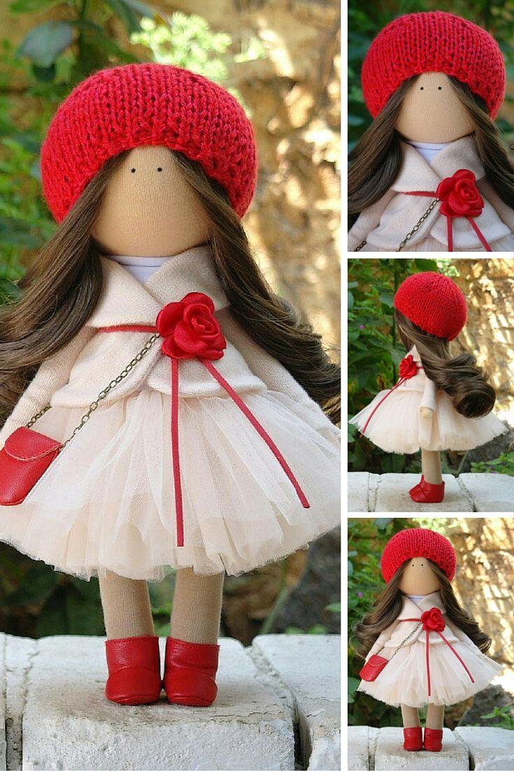 Fabric doll Handmade doll Tilda doll Art doll Textile doll Rag doll Interior…