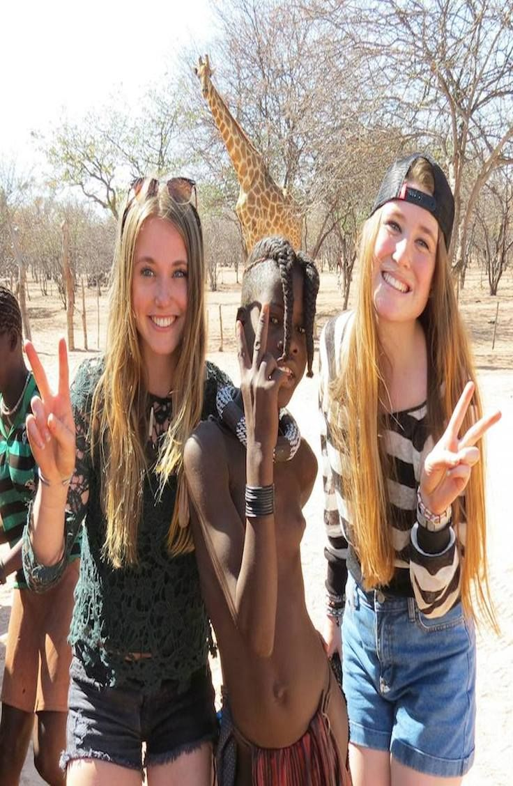 Meet the tame Giraffe in Himba Village