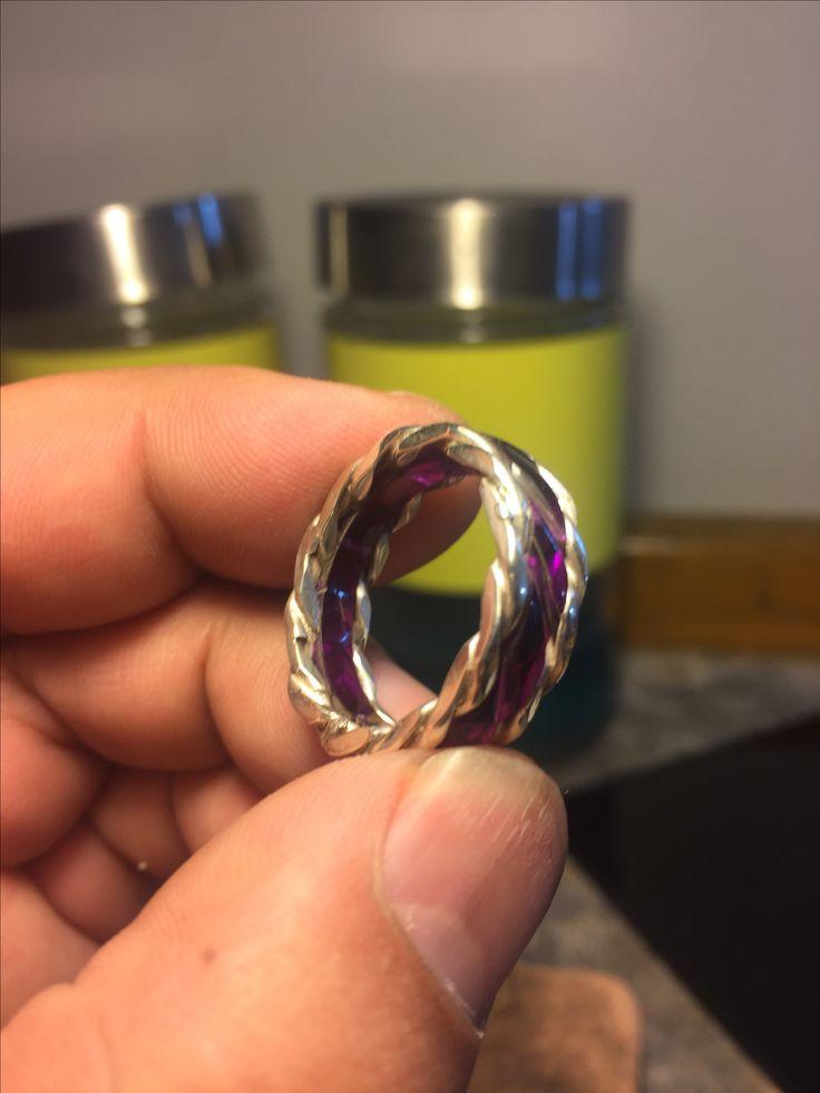 Acrílico anillo trenzado