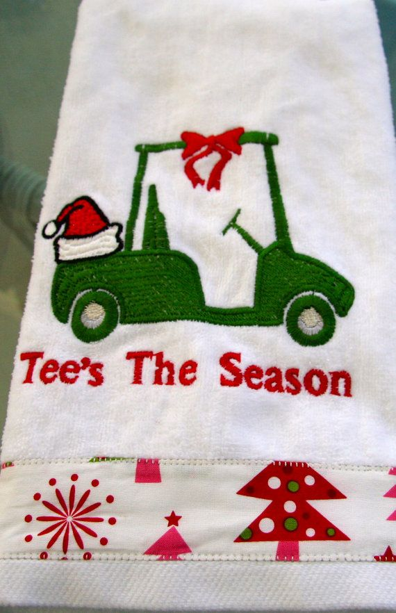 Tee's the Season christmas golf towel