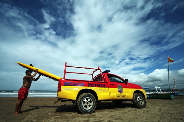 The Local Baywatch of Indonesia by Tommy Satria, via Behance