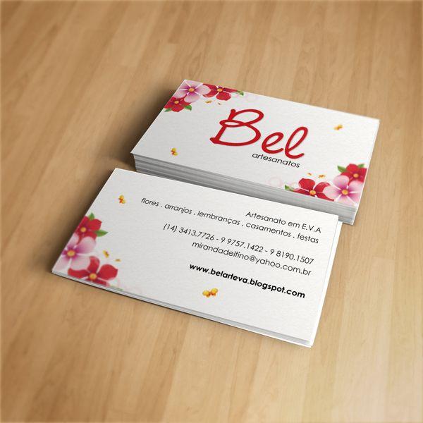 Cartão de Visitas para Bel Artesanatos #graphicdesign