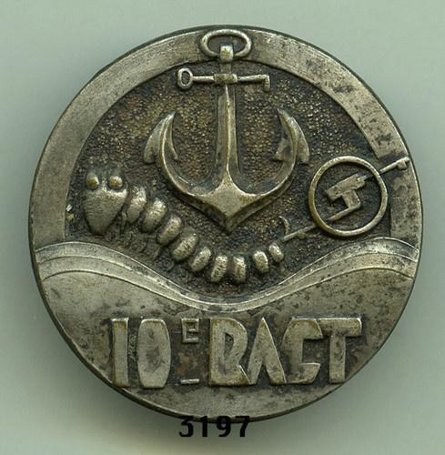 Colonial Artillery Badge, 10 RACT. (Estempe)