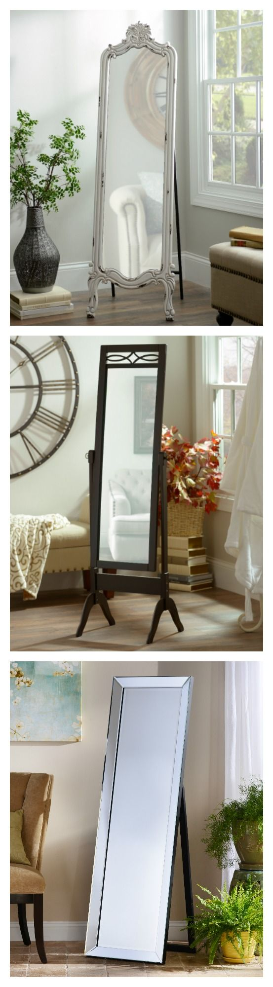 Let us floor you with our selection of full length and floor mirrors! Find the perfect mirror for your bathroom or bedroom - perfect to match and accent your taste! Whether you want a framed, contemporary, or just a traditional mirror, we have a wide selection perfect for any style!