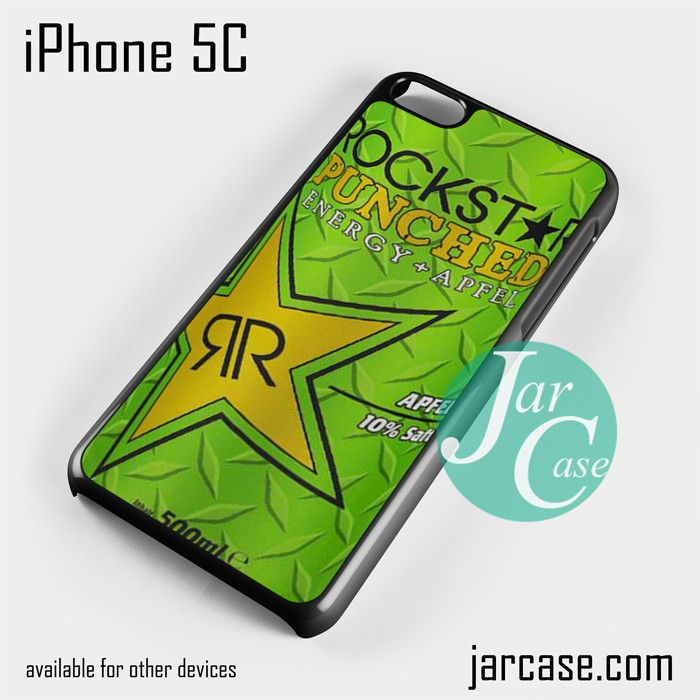 rockstar energy drink apple punched Phone case for iPhone 5C and other iPhone devices