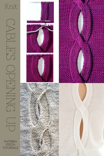 Knit - Cables Opening Up - pattern stitch tutorials - DiaryofaCreativeFanatic