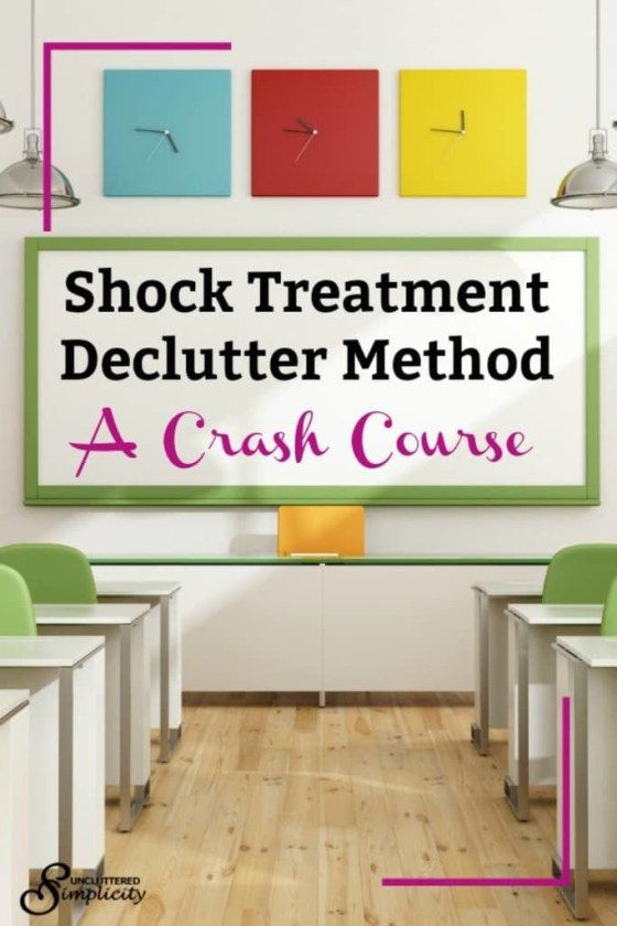 shock treatment declutter method | how to declutter your home | declutter and organize any space in your home