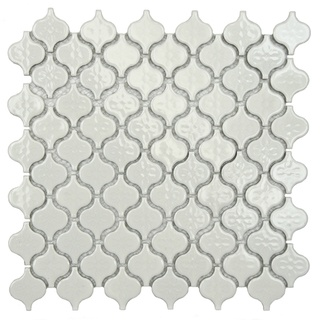 @Overstock.com - This mini porcelain mosaic tile set adds flair to any decor. These durable tiles are perfect for either indoor or outdoor use. The floral accents are the highlight of this glazed porcelain mosaic tile that is set with a high sheen finish.http://www.overstock.com/Home-Garden/SomerTile-Mini-White-Porcelain-Mosaic-Tile-Pack-of-10/6620182/product.html?CID=214117 $116.99