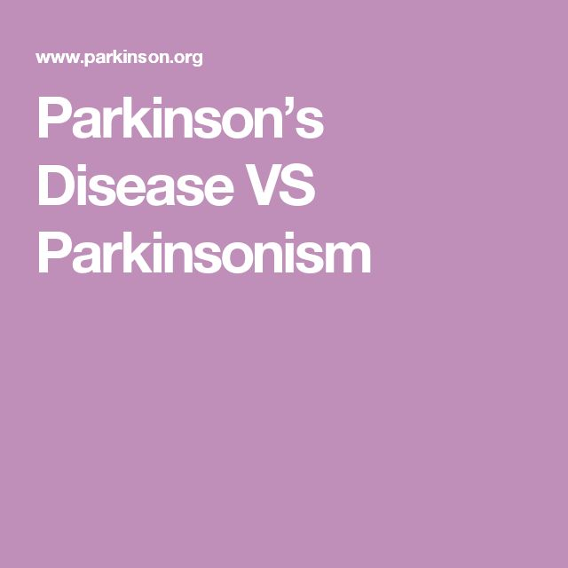 Parkinson's Disease VS Parkinsonism