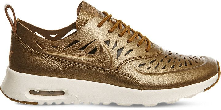 The Gold Nike Air Max Thea with Cutouts on Shopstyle.
