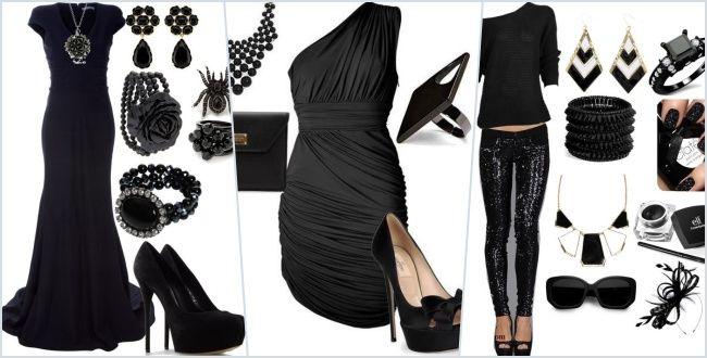 Siyah elbise kombin önerileri ile hem gece şık kombinler, nasıl kombin yapılır, ne renk çorap, ayakkabı ve çanta ile her yaş için siyah kombin önerileri ve modelleri