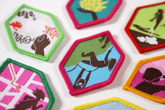 Danish interest badges- Green Girl Guides