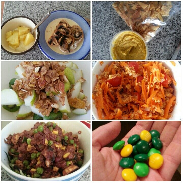 11 Feb 15  B: 1 slice toast with cottage cheese and mushrooms, Greek yogurt and pineapple S: pita chips and hummus L: couscous, tuna and carrot salad S: Greek yogurt with pear and a sprinkle of muesli D: zoodle bolognaise S: handful of m&ms