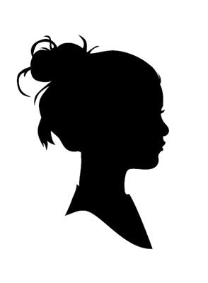 """silhouette. When I was in primary (years ago!) We did this. I still have it somewhere. Fun for """"Activity Day Girls"""""""